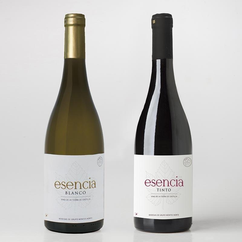 Estuche de vino: 2 botellas (Tinto + Blanco)