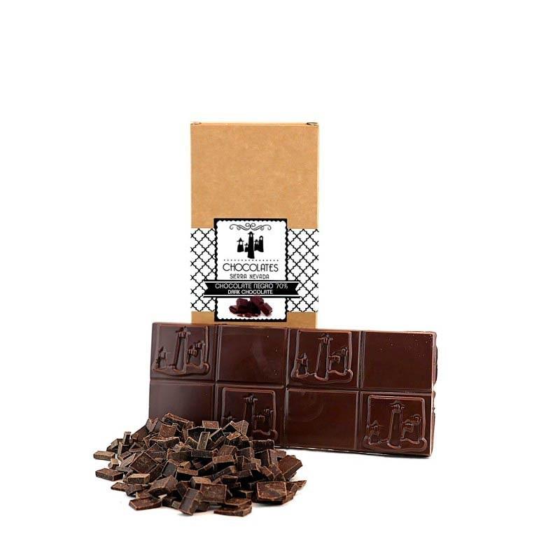 "Tableta de Chocolate Negro 70% ""Sierra Nevada"""