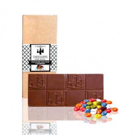 """Tableta de Chocolate con Leche y Lacasitos """"Sierra Nevada"""""""