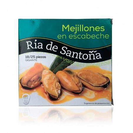 Mejillones en escabeche Ría de Santoña (tamaño gigante - 18-25 piezas)