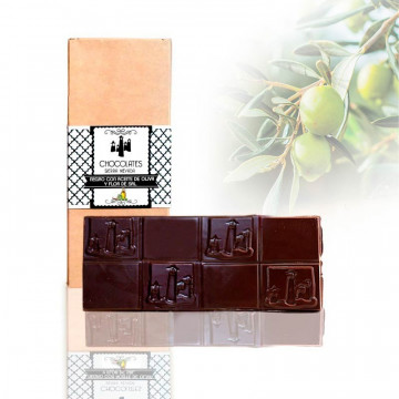 """Tableta de Chocolate Negro con AOVE y Flor de Sal """"Sierra Nevada"""""""